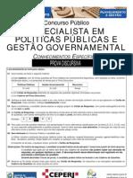 Especialista Em Politicas Publicas e Gestao Governamental Discursiva Prova