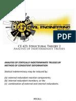 Analysis of Indeterminate Trusses