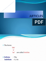 ARTICLES and their USES PPT