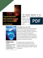 Transmaterielle Wissenschaft / Grundlagen