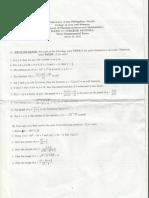 Sample Math Depex 1 and 2