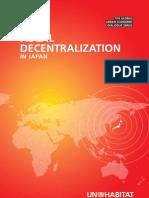 Fiscal Decentralization in Japan