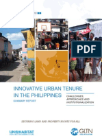 Innovative Urban Tenure in the Philippines. Challenge, Approaches and Institutionalization. Summary Report