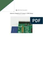 Adafruti Lesson 4 - Raspberry Pi GPIO