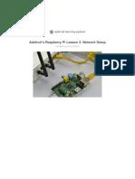 Adafruti Lesson 4 - Raspberry Pi Network Setup