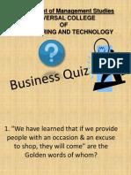 Business Quiz Ppt