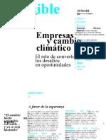 Revista Esposible Empresas y Cambio Climatico n 1 Enero2010
