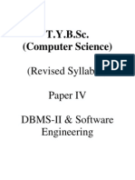 T.Y.B.sc. (Computer Science) - Paper - IV - DBMS - II & Software Engineering