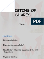 Delisting of Shares