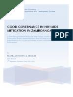 Good Governance in HIV