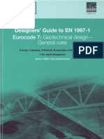 Eurocode 7 Geotechnical Design-General Rules-Guide to en 1997-1