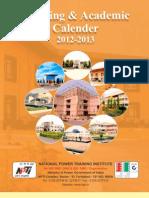 NPTI Calendar 2012-13