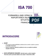 ISA 700 R Revised