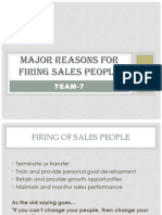 Major Reasons for Firing Sales People