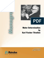 Water Determination by Karl FischerTitration