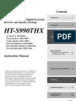 Onkyo HT-R940 Manual