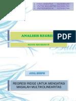 analisis regresi ridge