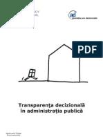 Transparenta Decizionala in Admini Stratia Publica