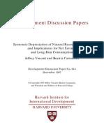 Economic Depreciation of Natural Resources in Asia
