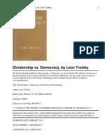 Dictatorship vs Democracy