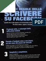 """Infografica """"Le 10 regole dello scrivere su Facebook"""""""