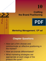 Kotler_ch11 Crafting Brand Positioning