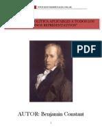 """""""Principios de Política aplicables a todos los gobiernos representativos"""" de Benjamin Constant. www.iestudiospenales.com.ar"""