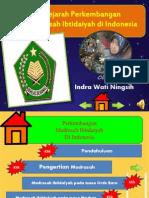SEJARAH PERKEMBANGAN MI di INDONESIA