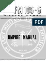 FM 105-5 Umpire Manual 1944