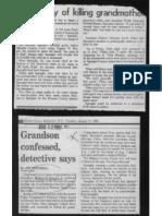 William Spengler 1980 murder of his Grandmother