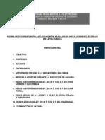 Reglam de Inst Electricas Distribucion-trabajos en La via Publicares Enre 190-2012