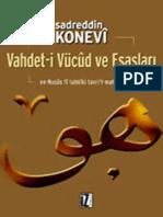 Vahdet-i Vucud Ve Esaslari - Sadreddin Konevi