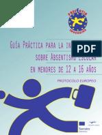 GUÍA PRÁCTICA PARA LA INTERVENCIÓN SOBRE ABSENTISMO ESCOLAR EN MENORES DE 12 A 16 AÑOS