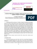 A Frame Work for Clustering Time Evolving Data Using Sliding Window Technique