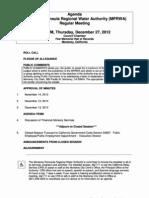 Mprwa Regular Meeting Agenda Packet 12-27-12
