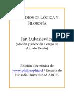 Lukasiewicz Jan - Estudios de Logica Y Filosofia [PDF]