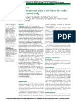 Psychosocial Risk Factors for Stroke 2012