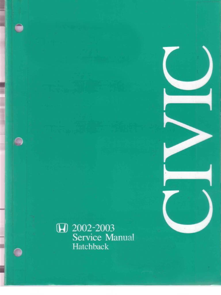 honda civic ep3 02 03 service manual pdf airbag leak rh scribd com Interiur 2006 Honda Civic Manual Interiur 2006 Honda Civic Manual