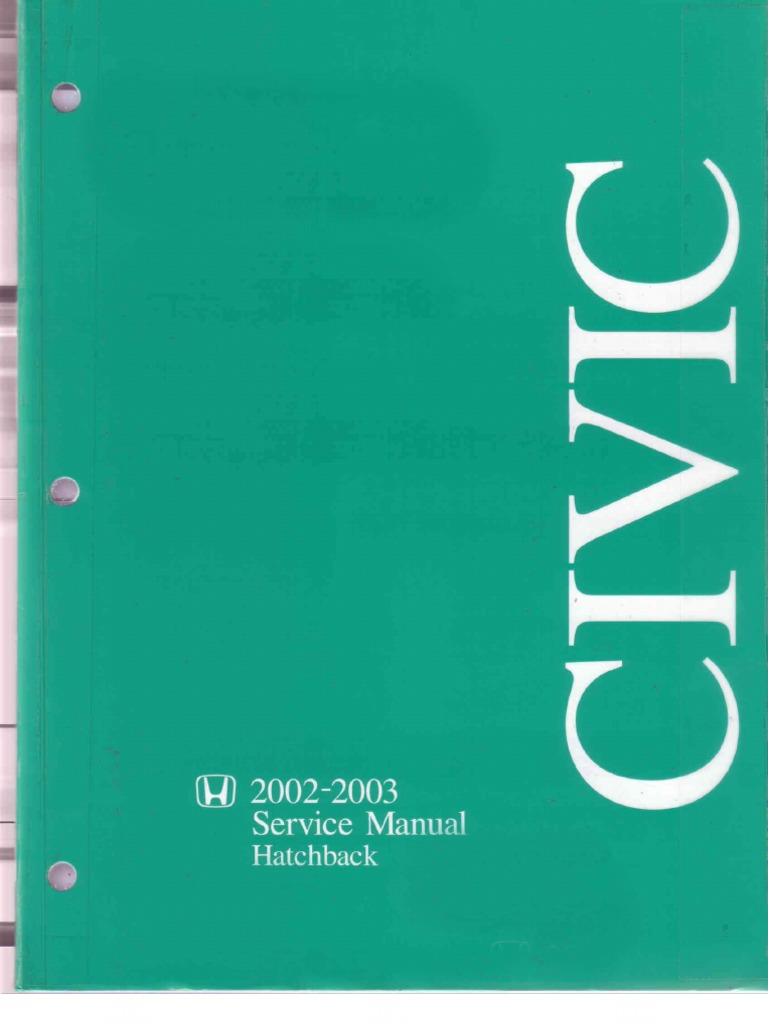 2007 honda civic service manual free download