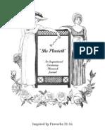 PRINTABLES She Planteth ~ An Inspirational Gardening Journal