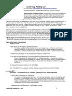 Leadership Reading List 2009
