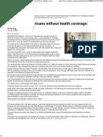 25percent Uninsured in US