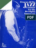 Elements-of-the-Jazz-Language - Jerry Coker