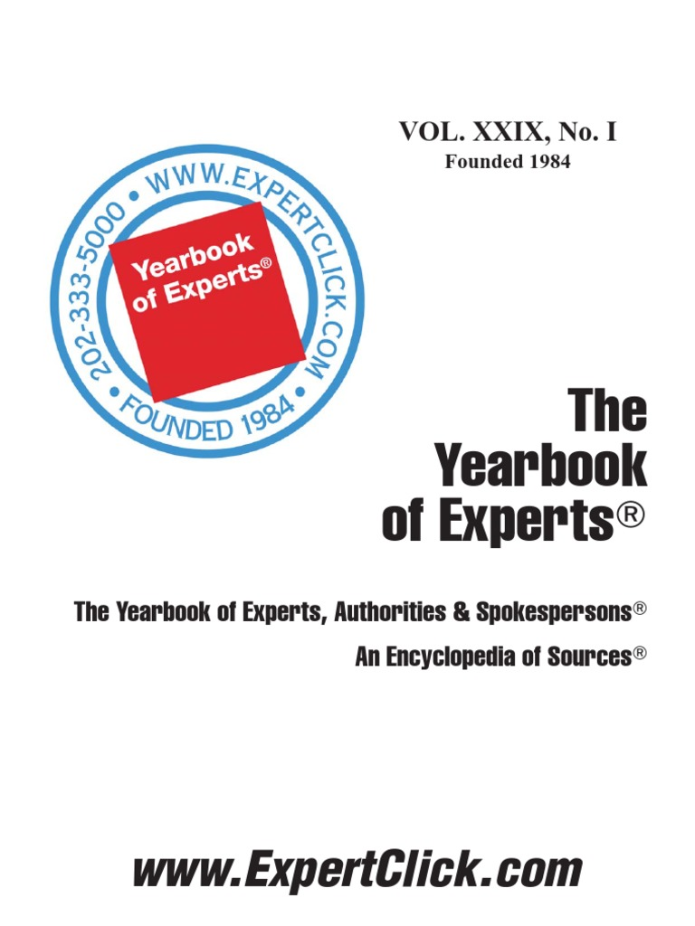 Yearbook of experts 2013 29th annual news websites fandeluxe Images