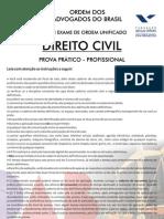 VIII Exame OAB - Prova Prático Profissional - Civil