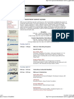 Space Investment Summit 1 Agenda - 4-16-07