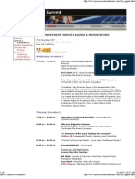 Space Investment Summit 3 Agenda - 12-5-07