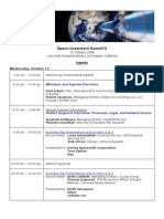 Space Investment Summit 5 Agenda - 10-15-08