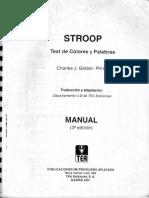 manual stroop