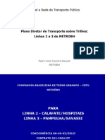 Plano Diretor de Transporte sobre Trilhos das Linhas 2 e 3 do Metrô de Belo Horizonte